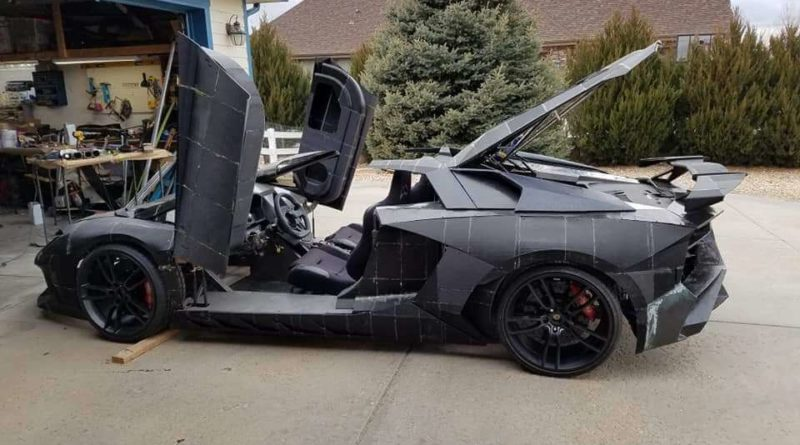 A Father And His Son Are 3D Printing A Full Scale Lamborghini Aventador In Their Backyard